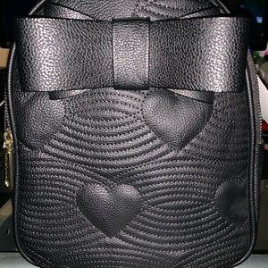 Betsy Johnson Black Mini Backpack